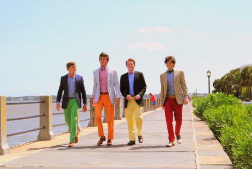 Only in the South. (along The Battery, Charleston): Colored Pants, Fashion, Preppy Boys, Guy, Clothes, Colors, College, Things