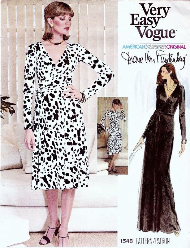 70s VOGUE 1548 DVF The Quintessential Diane Von FURSTENBERG ...