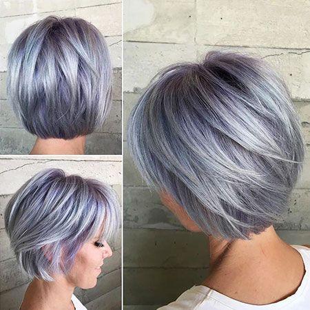 Penteados Bob 2019-25 penteados em camadas curtas com pônei   – Haar