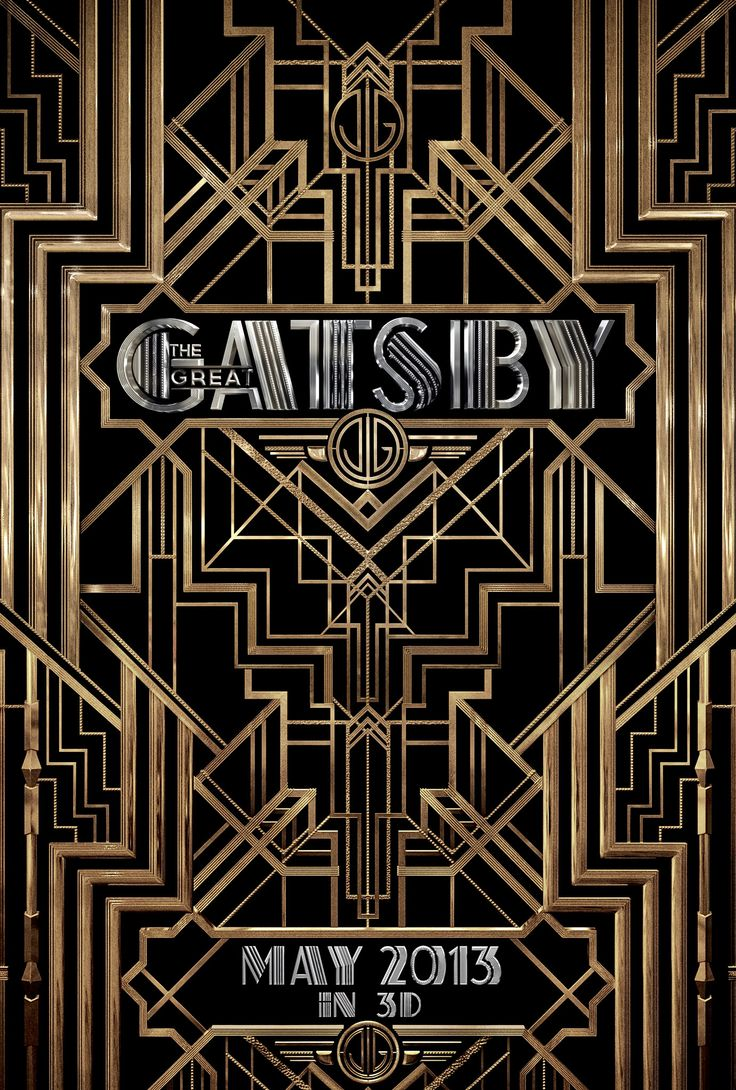 The Great Gatsby - typefaces used: Atlas, Atlas Solid, ITC Avant Garde Gothic, Newport Classic SG, Governor