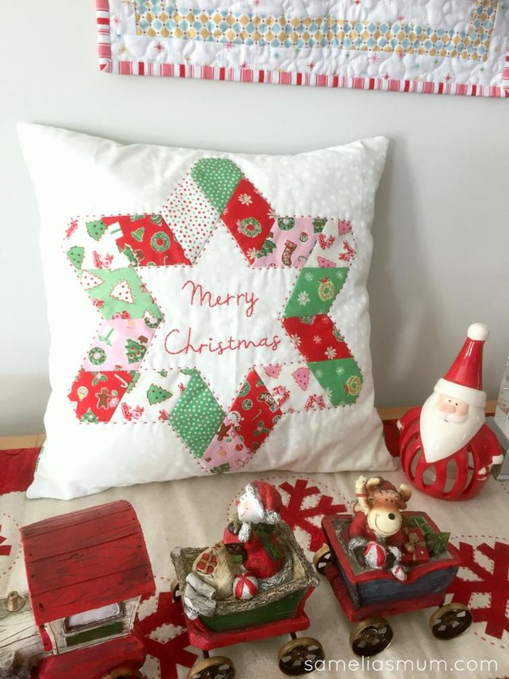 A Star for Christmas Cushion - free pattern @ Craftsy by Samelia\u0027s Mum & 429 best x-mas images on Pinterest | Christmas sewing Christmas ... pillowsntoast.com