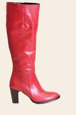 Tijdloze chique laarzen met gladde schacht en hoge hak van Head over Heels Antara 342005, 442002