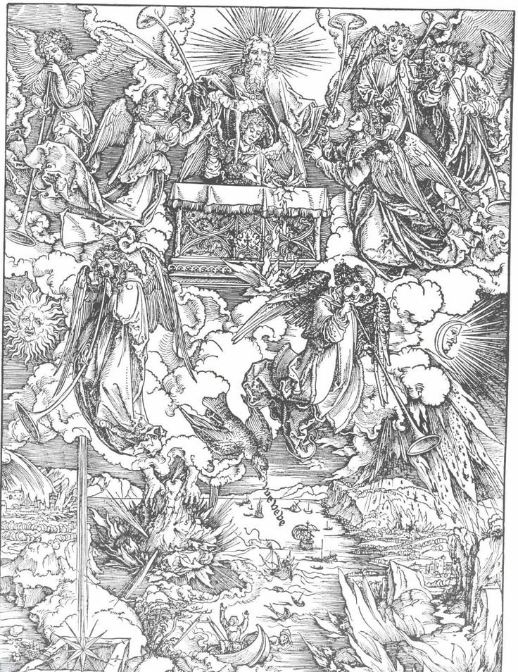 The Seven Trumpets Are Given to the Angels (1497-1498) - Albrecht Durer