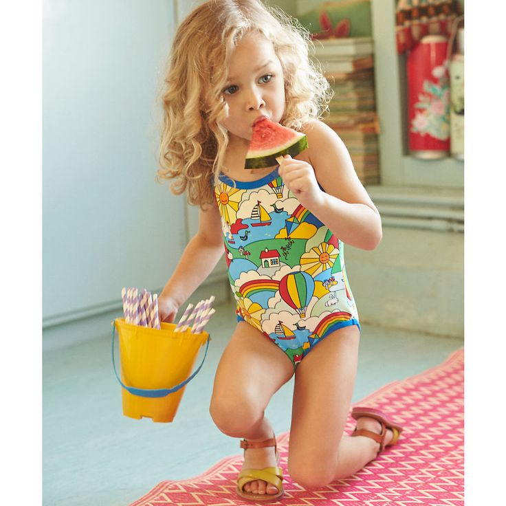 Little Bird Young Girls by Jools Printed Swimsuit
