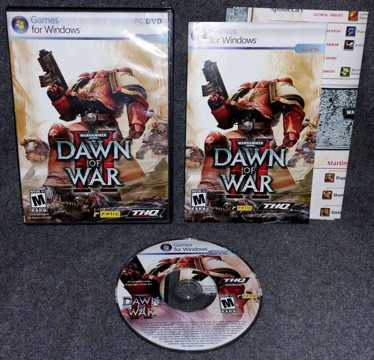 Warhammer Dawn of War II Game Windows PC DVD RPG Role Playing Strategy Action