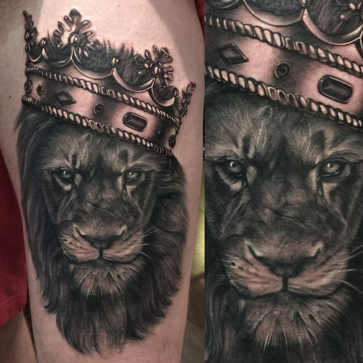 Lion and crown tattoo | Tattoos | Pinterest | Crown tattoos Crowns ...