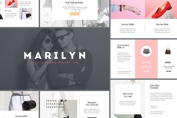 M A R I L Y N - Fashion Presentation by Upside Down on @creativemarket