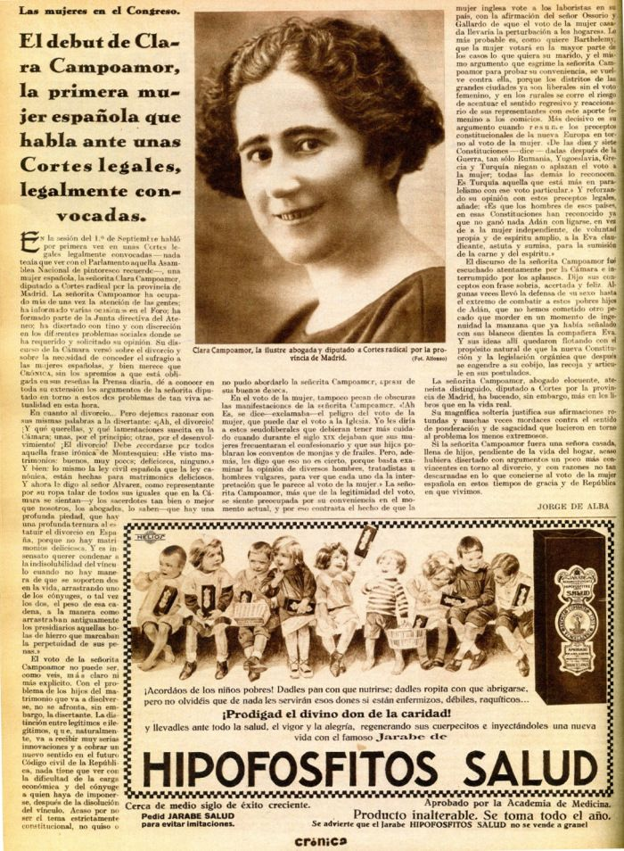 Clara Campoamor: La revolución española vista por una republicana. | Verdades que ofenden..