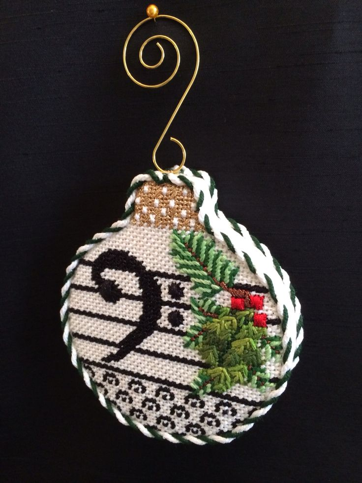 Music ornament ~ canvas by Whimsy & Grace