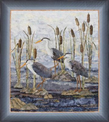 Wetland Watch by Joanne Baeth - Quilts and Fiber Arts