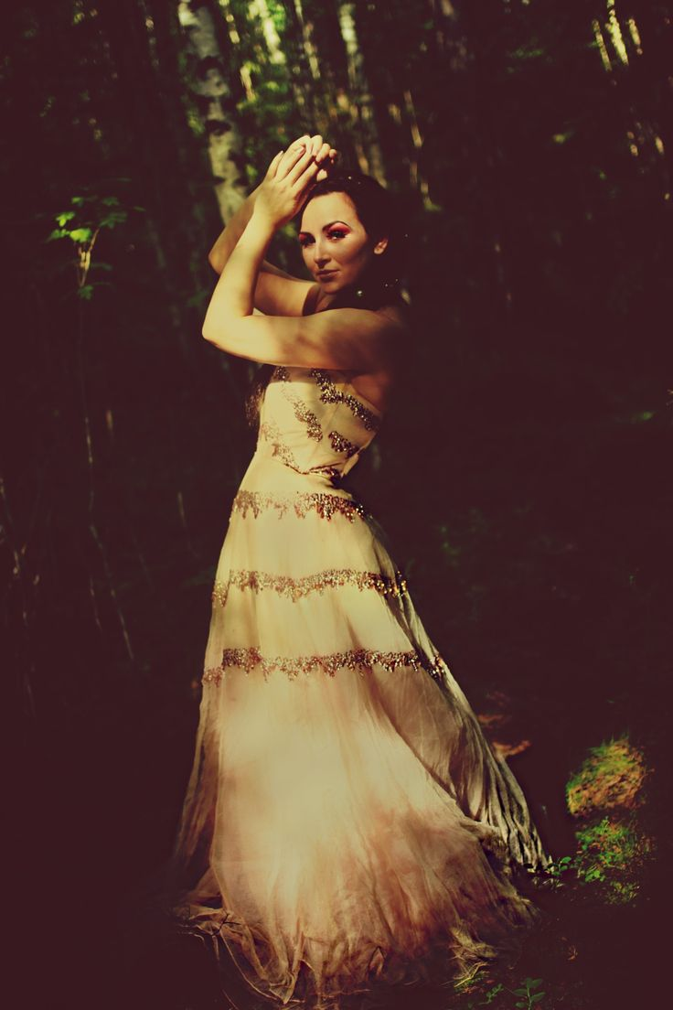 Photoshoot by Connie Trangsrud. Fashion, princess, outside, fairytale, forrest, haute couture, model.