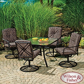 My New Chairs. Got the other Table though: Wilson & Fisher® Tuscany 5-Piece Dining Set: Outdoor Living Patio, Closeout Retail, Broadlin Closeout, Largest Broadlin, Outdoor Patio, Patio Sets, Nearest Big, Broad Range, Big Lots