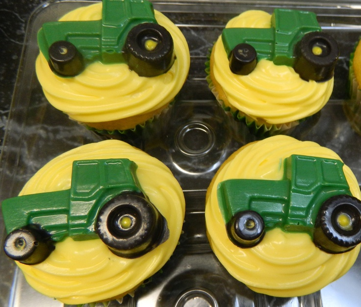 John Deere Cupcake Toppers are Fantastic Farmers' Treats - Foodista.com