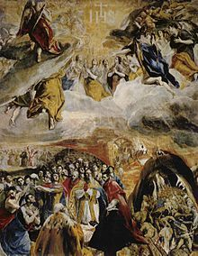 El Greco  En estas obras estilísticamente distintas, se aprecia como asumió el lenguaje del Renacimiento veneciano. La primera, del Tríptico de Módena (Galería Estense), es una obra titubeante del inicio de su estancia veneciana. La segunda (Thyssen-Bornemisza), (1573-1576), repite iconografía y composición, recuerda al Veronés en las figuras y a Tiziano en el nítido pavimento, en la composición equilibrada y en la serenidad de la escena. El manejo del color es ya de un maestro.