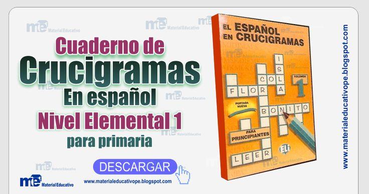 Cuaderno+de+Crucigramas+en+español+para+primaria