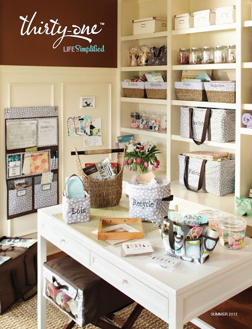 Love this office organized with Thirty One products. I'm in Ontario, contact me for info FabBagLady@gmail.com or www.mythirtyone.ca/fabbaglady