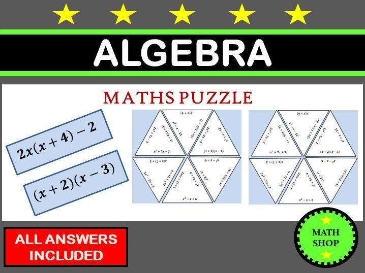 Algebra Puzzles | Teaching maths | Algebra worksheets ...