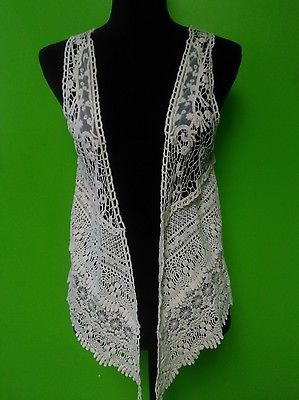 NWT Boho  lace vest hippie shirt super cute!