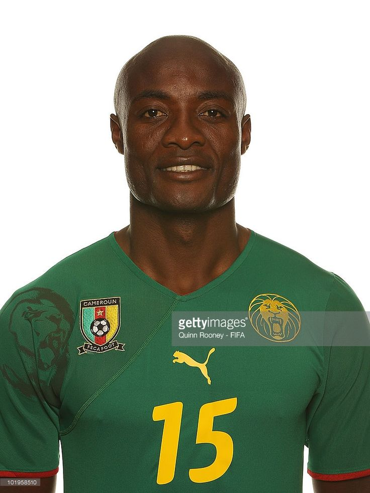 Pierre Webo of Cameroon poses during the official FIFA World Cup 2010 portrait session on June 10, 2010 in Durban, South Africa.