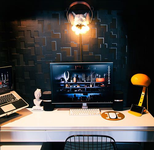 Designer Workspaces - Gregory Han is managing editor of Apartment Therapy's technology division, Unplggd.