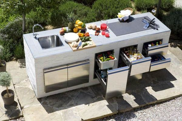 Schöne Outdoor-Küchenideen für den Sommer