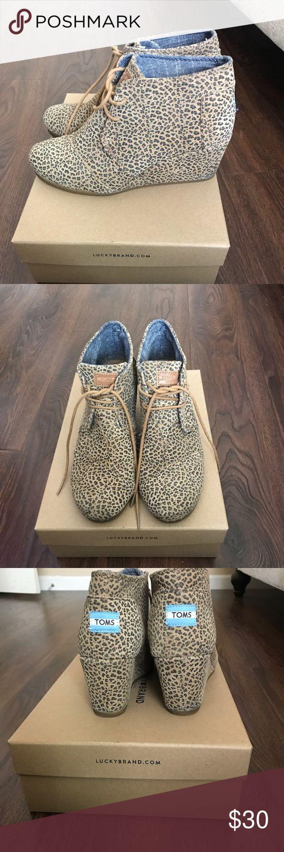 Toms Wedge Booties Cheetah Print Toms Wedge Booties Cheetah Print Toms Shoes Ankle Boots & Booties