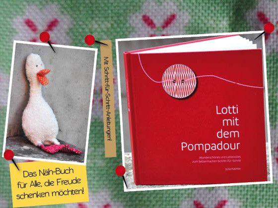 """DIY-Buch """"Lotti mit dem Pompadour"""" von Buch Pompadour auf DaWanda.com"""