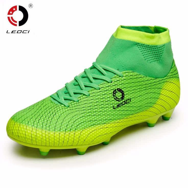 [Visit to Buy] Cheap football boot ankle high soccer boots kids cleats 2016 football with ankle boots superfly original sock for sale adult #Advertisement