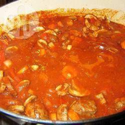Rundvlees met tomaat en champignons @ allrecipes.nl
