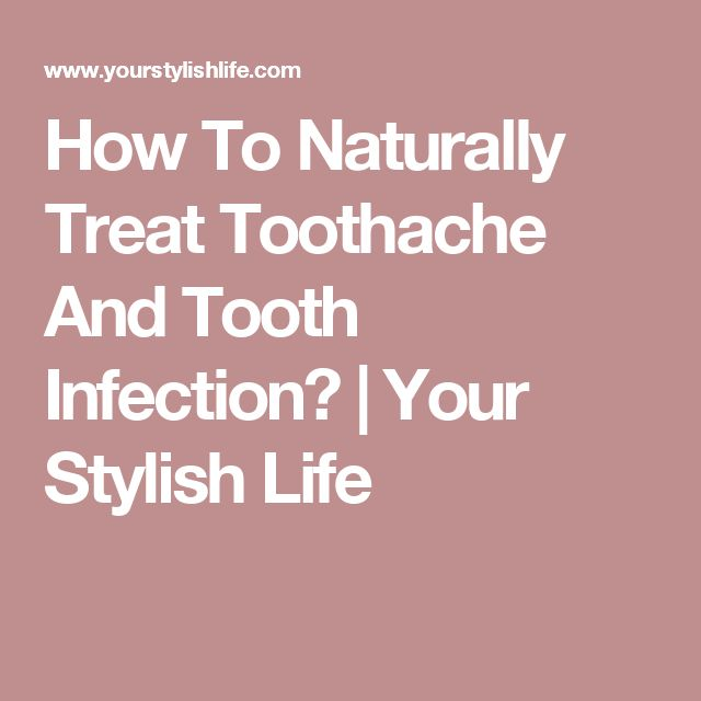 how to stop tooth pain from infection