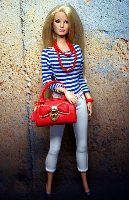 Carol Ferris Barbie rerooted to be Serena from Gossip Girl by Shuga-shug, via Flickr