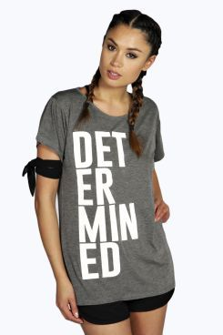 Mia Fit T-shirt Determined