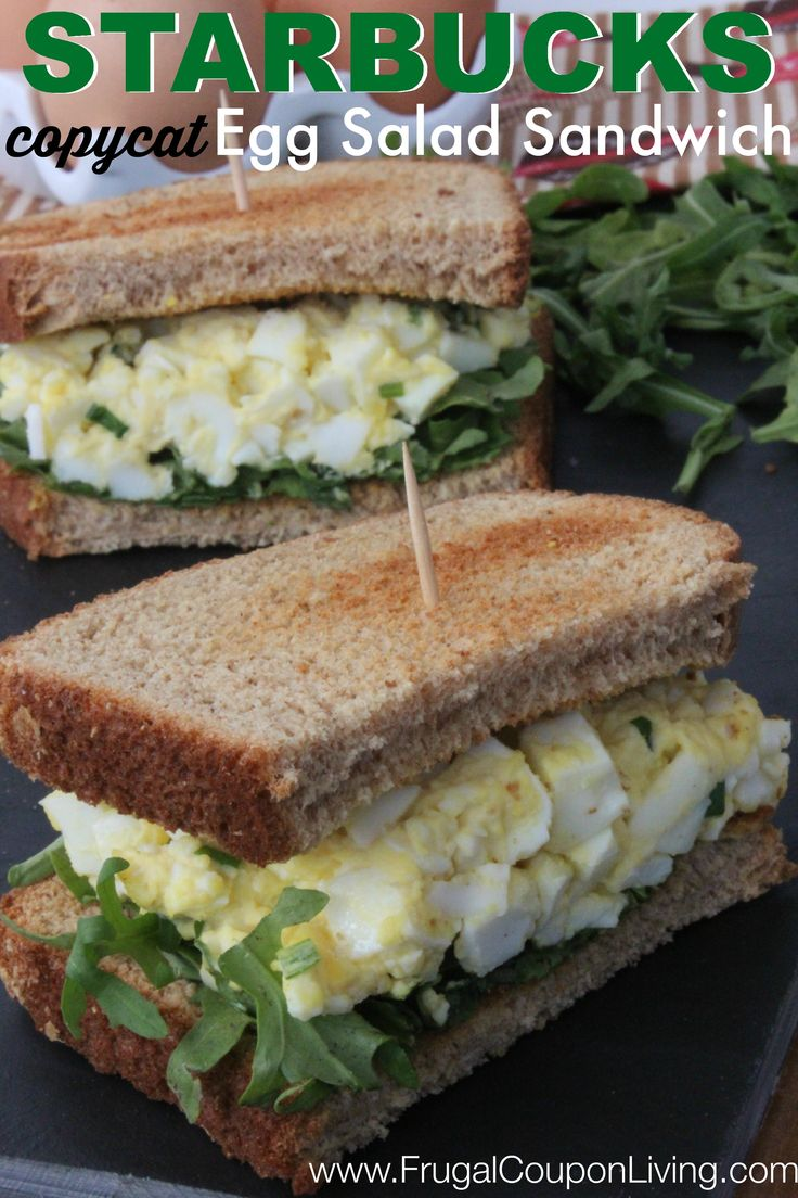 Copycat Starbucks Egg Salad Sandwich Recipe - Reciplicate your favorite barista's lunch time meal at home.