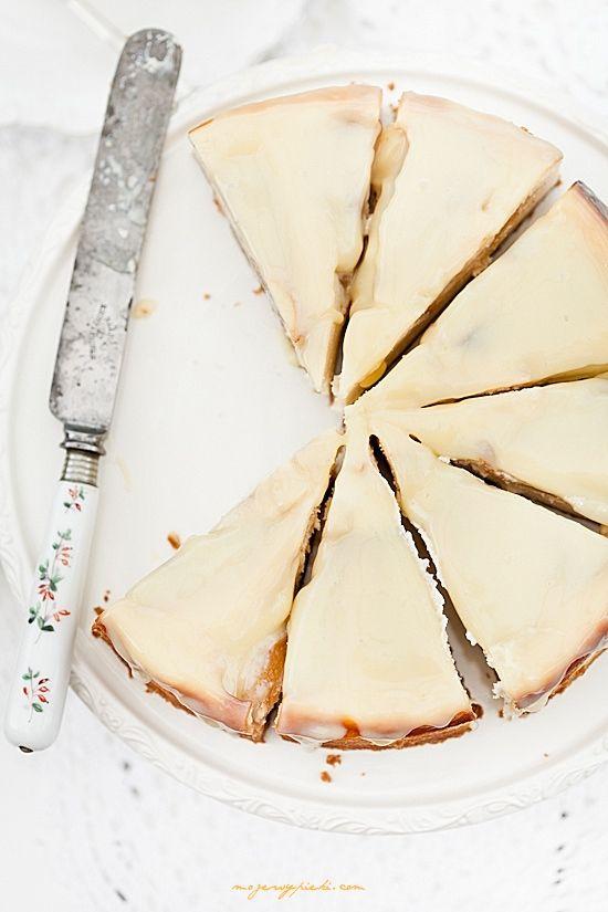 Sernik z gruszkami i białą czekoladą - MOJE WYPIEKI