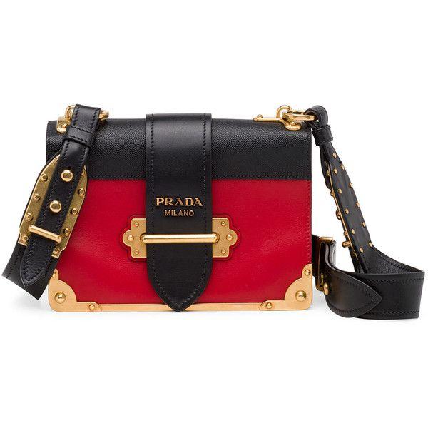 Prada Cahier Notebook Shoulder Bag ($2,660) ❤ liked on