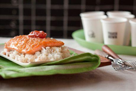 Scottish Salmon with Shallot-Truffle Honey Glaze / Image via: Epicurious #scottish #food #recipe