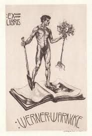 Bookplate by Alois Kolb for Werner Warnike, c.1910