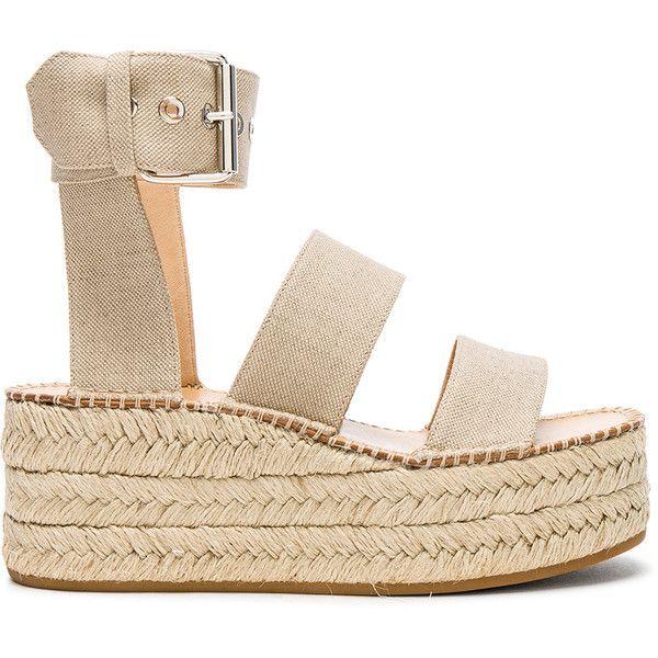Rag & Bone Canvas Tara Sandals (4375 MAD) ❤ liked on Polyvore featuring shoes, sandals, buckle strap sandals, canvas espadrilles, platform sandals, platform espadrilles and platform shoes