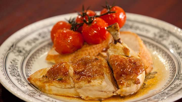 Supreme Cut Chicken Breast with Oven Roasted Tomato & Crusty Baguette