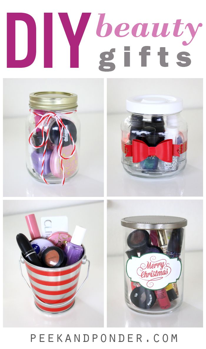 DIY beauty gifts in containers that can be reused!