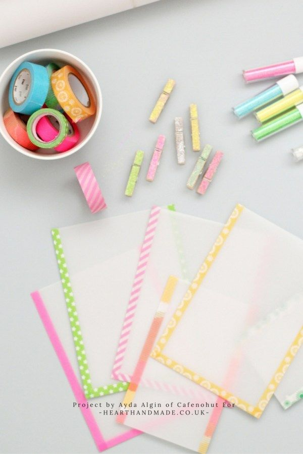 How To Make Wonderful Wax Paper Bags With MT Tape and Glitter Pegs
