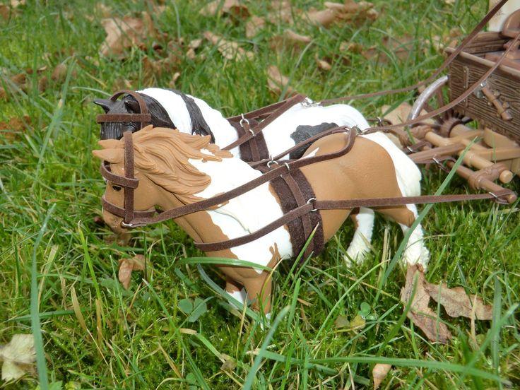 Kutschgeschirr (Kutsche / Planwagen)) für z.B. Schleich Pferde | eBay