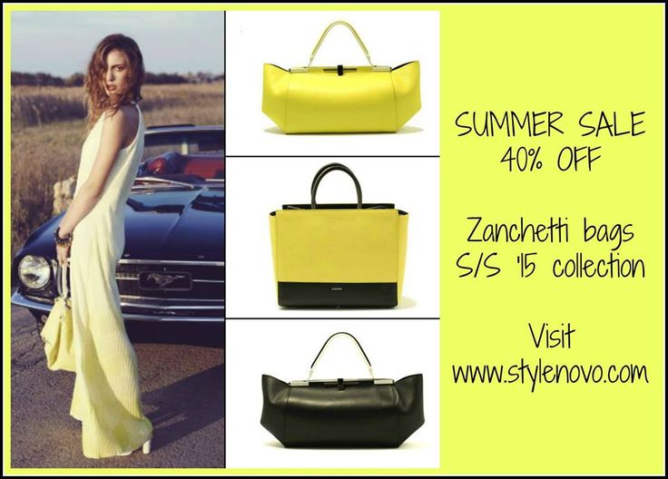Never tired of yellow this season: Zanchetti bags available on: stylenovo.com
