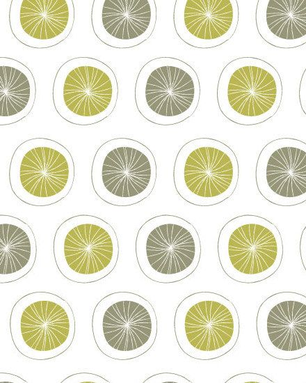 Dandelion Circles Fabric from Saffron Craig