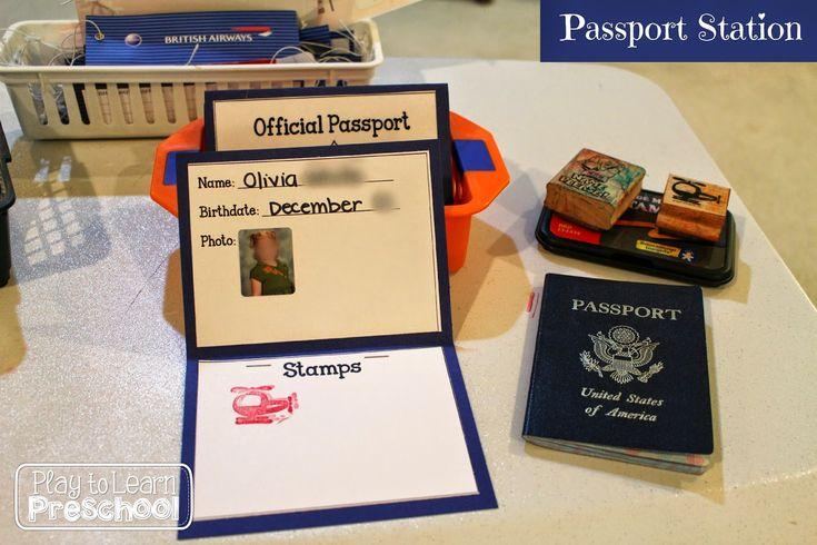 paspoort controle kleuters, rollenspel