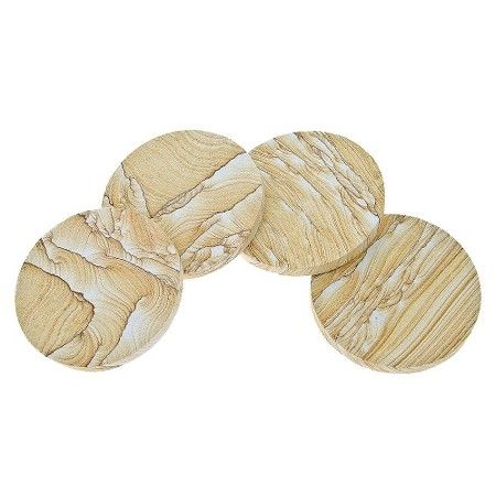 Thirstystone Natural Sandstone Coasters - Set of 4 : Target
