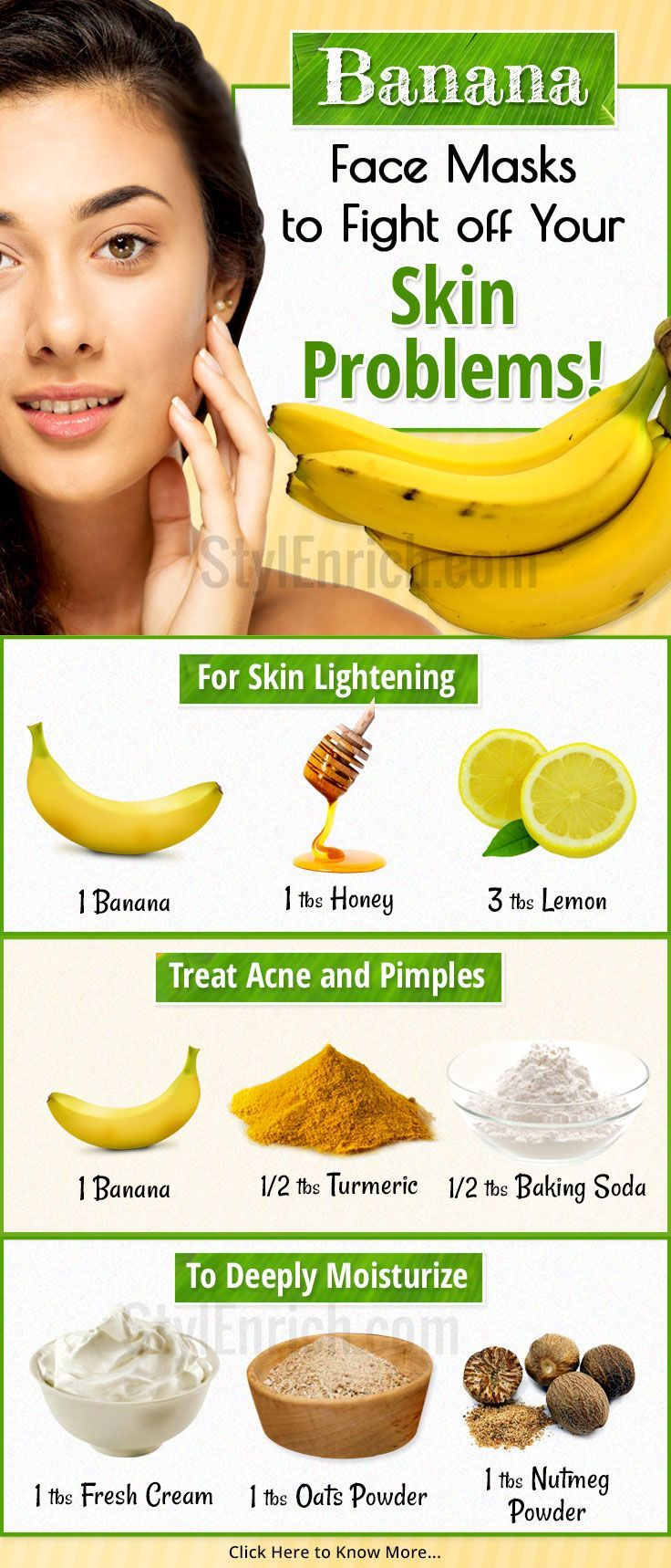#Bananas are known for its wonderful nutritive value all over the world. Bananas are good for your health. We bring just for you 5 absolutely stunning homemade banana #FaceMasks.