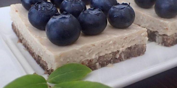 Nepečený čučoriedkový koláč (z tofu)
