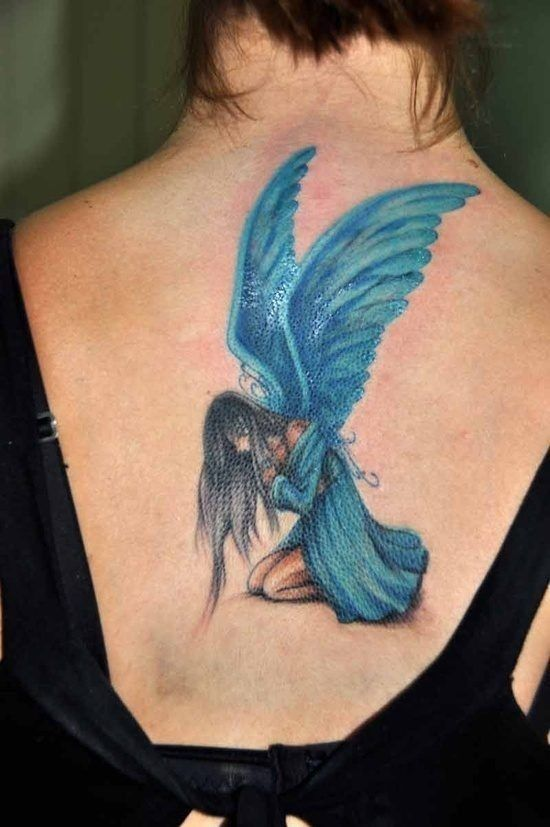 e305b5e5d blue angel tattoo | aesthetic in 2019 | Waist tattoos, Fairy tattoo ...