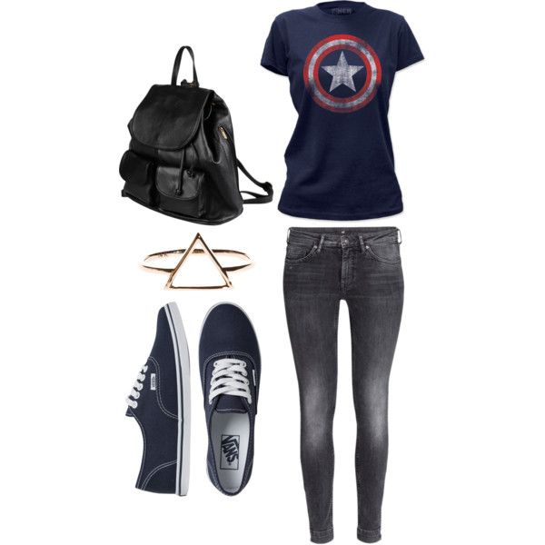 Untitled #36 by bestari09 on Polyvore featuring polyvore fashion style H&M Vans PARENTESI